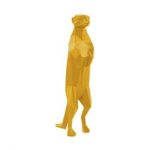 Statueta PT LIVING Origami Meerkat, galben mat