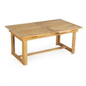 Masa extensibila de gradina din lemn de tec pentru 6-8 persoane Ezeis Sun, natural