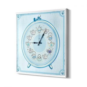 Ceas de perete The Mia Tea Time, albastru