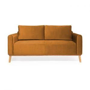Canapea cu 3 locuri Vivonita Milton Trend, galben mustar