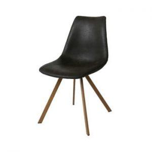 Scaun cu picioare maro Canett Zobel, negru