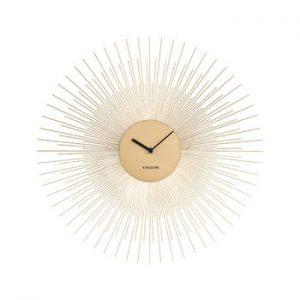 Ceas de perete Karlsson Peony, auriu, ø 45 cm