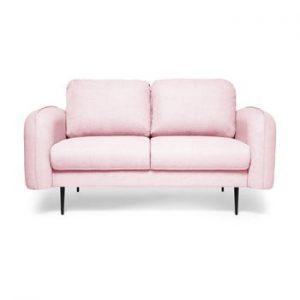Canapea cu 2 locuri Vivonita Skolm, roz pudra