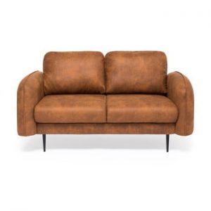 Canapea cu 2 locuri Vivonita Skolm, imitatie piele
