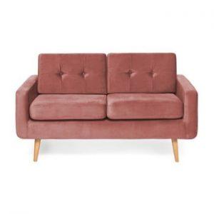 Canapea cu 2 locuri Vivonita Ina Trend, roz