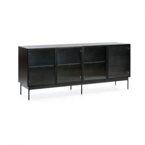 Comoda Teulat Blur, latime 180 cm, negru
