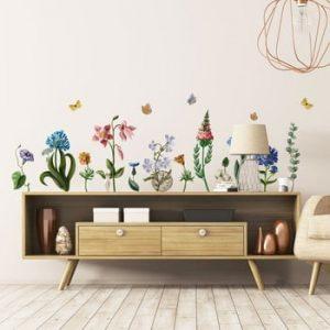 Set autocolante pentru perete Ambiance Wildflowers