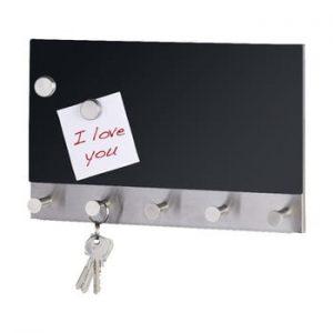 Cuier magnetic pentru haine cu tabla de scris Wenko Black Long