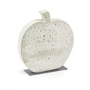 Decoratiune din ciment La Forma Sens Apple, 37 x 40 cm, alb