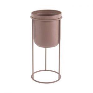 Ghiveci metalic pentru podea PT LIVING Tub, inaltime 27cm, roz deschis
