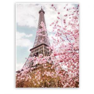 Tablou imprimat pe panza Styler Romantic Eiffel, 100 x 75 cm
