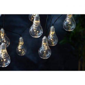 Sirag luminos solar LED pentru exterior Best Season Glow, alb