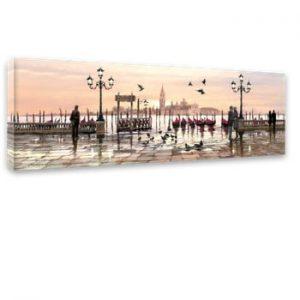 Tablou Styler Canvas Watercolor Venice, 45 x 140 cm