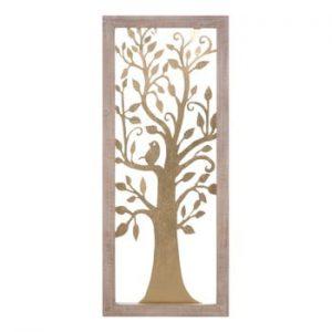 Decoratiune pentru perete Mauro Ferretti Tree, 40x100cm, auriu