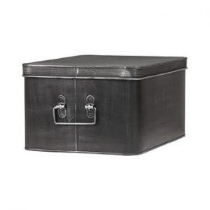 Cutie metalica pentru depozitare LABEL51 Media, latime 35cm, negru