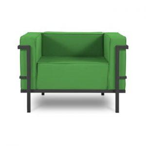 Fotoliu adecvat pentru exterior Calme Jardin Cannes, verde - negru