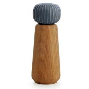 Rasnita din lemn pentru sare/piper Kähler Design Hammershoi, mare, antracit