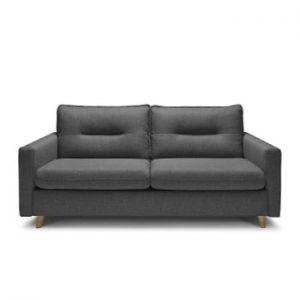 Canapea extensibila cu 3 locuri Bobochic Paris Sinki, gri inchis