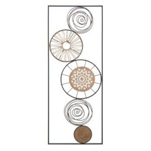 Decoratiune metalica pentru perete Mauro Ferretti Masai A, 35x90cm