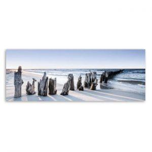 Tablou imprimat pe panza Styler Blue Sunset, 150 x 60 cm