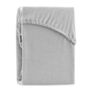 Cearsaf elastic pentru pat dublu AmeliaHome Ruby Silver, 180-200 x 200 cm, gri