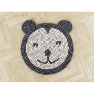Covor cu bile din lana, pentru camera copiilor Wooldot Ball Rugs Bear, ⌀ 90 cm