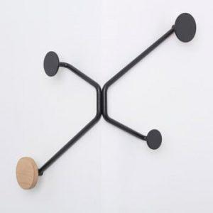 Cuier de perete Gazzda Hook, colt exterior, negru