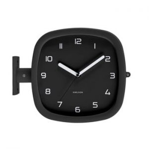Ceas de perete Karlsson Slides, 29 x 24,5 cm, negru