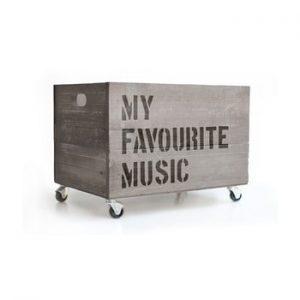 Cutie din lemn cu roti Really Nice Things Music, gri