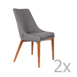 Set 2 scaune Dutchbone Juju, gri