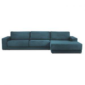 Canapea extensibila XXL pentru 6 persoane Milo Casa Donatella, colt pe dreapta, albastru