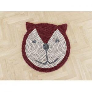 Covor cu bile din lana, pentru camera copiilor Wooldot Ball Rugs Fox, ⌀ 90 cm