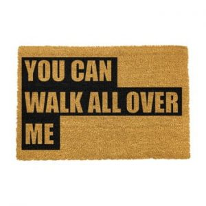 Covoras intrare din fibre de cocos Artsy Doormats Walk All Over Me, 40 x 60 cm