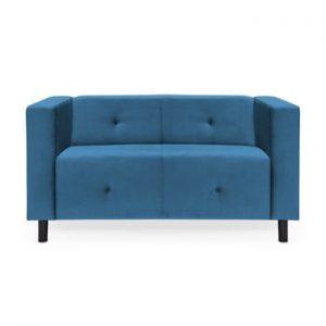 Canapea cu 2 locuri Vivonita Milo, albastru