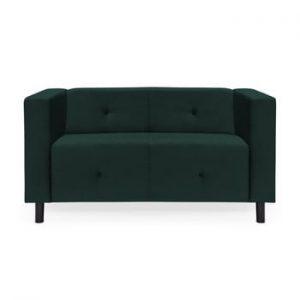 Canapea cu 2 locuri Vivonita Milo, verde petrol