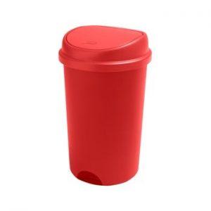 Cos de gunoi cu capac Addis, inaltime 64,5 cm, rosu