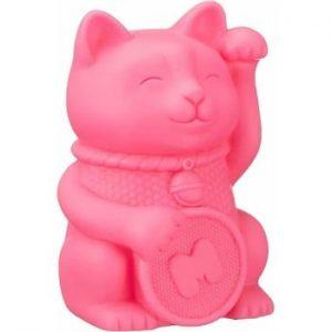 Lampa de veghe Just Mustard Lucky Cat, roz