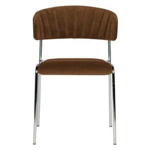 Set 2 scaune BePureHome Twitch Velvet, maro