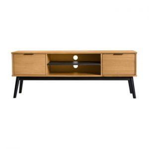 Comoda TV din lemn de pin Marckeric Estela, 52 x 140 cm, maro