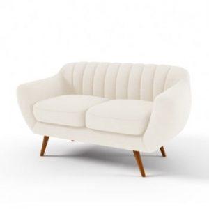 Canapea cu 2 locuri Vivonita Kennet, crem