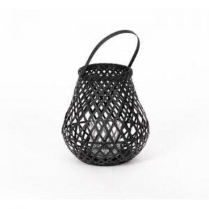 Felinar din bambus Compactor Bamboo Lantern, ⌀ 25 cm, negru