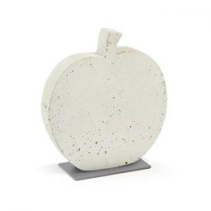 Decoratiune din ciment La Forma Sens Apple, 28 x 30 cm, alb