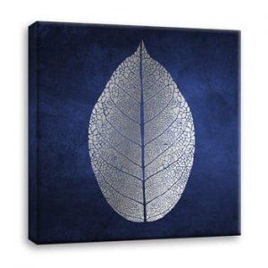 Tablou Styler Canvas Silver Uno White Leaf, 60 x 60 cm