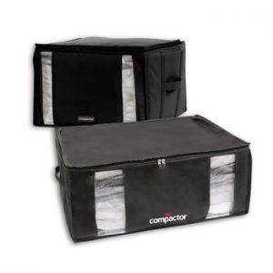Set 2 cutii cu vid Compactor Black Edition XXL, 125 l, negru