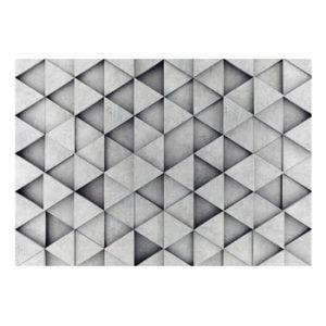 Tapet format mare Bimago Grey Triangle, 400 x 280 cm