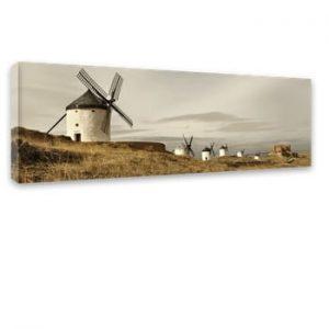 Tablou Styler Canvas Harmony Field, 45 x 140 cm