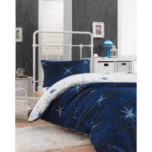 Set lenjerie de pat si cearsaf din bumbac Rassido Messino, 160 x 220 cm
