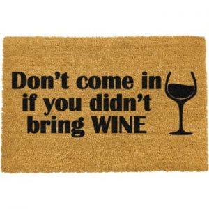Covoras intrare din fibre de cocos Artsy Doormats Without Wine, 40 x 60 cm