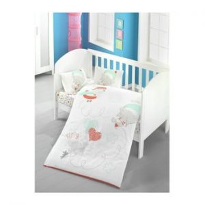 Lenjerie de pat cu cearsaf Baby Sky, 100 x 150 cm