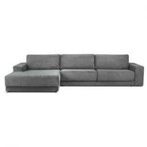Canapea extensibila XXL pentru 6 persoane Milo Casa Donatella, colt pe stanga, gri